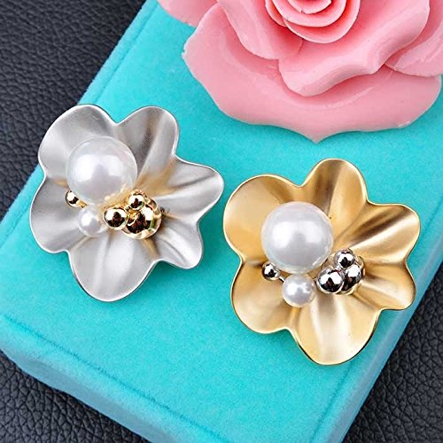 Cameo Brooch 18k (Xiao Yi House popular fashion pure AIU glossy pearl flower brooch pin 18k gold plated)