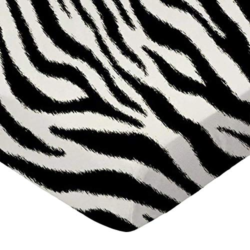 SheetWorld Fitted Crib / Toddler Sheet - Zebra - Made In USA