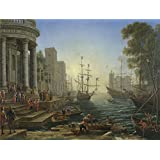 Oil painting 'Claude Seaport with the Embarkation of Saint Ursula ' printing on Perfect effect canvas , 30 x 40 inch / 76 x 101 cm ,the best Wall art artwork and Home artwork and Gifts is this Beautiful Art Decorative Canvas Prints