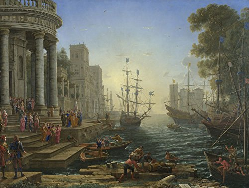 [The High Quality Polyster Canvas Of Oil Painting 'Claude Seaport With The Embarkation Of Saint Ursula ' ,size: 8 X 11 Inch / 20 X 27 Cm ,this High Definition Art Decorative Prints On Canvas Is Fit For Study Gallery Art And Home Decor And] (Thailand National Costume For Male)