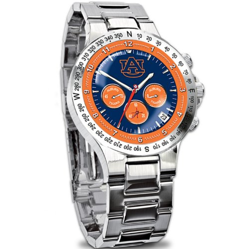 Sport Watch Tigers State Steel (Auburn Tigers Collector's Men's Chronograph Watch)