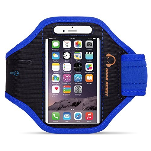Gear Beast Nylon/Neoprene Sports Armband with Key Holder for Smartphones - -