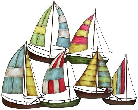 Deco 79 Metal Sailing Boat Decor a Perfect Nautical Decor
