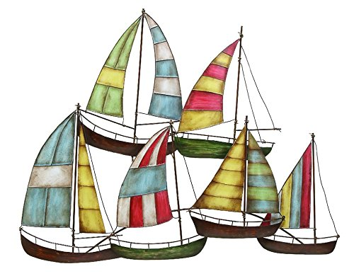 Deco 79 Metal Sailing Boat Decor a Perfect Nautical (Boat Metal Sculpture)