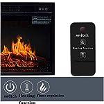 LXDDP-Camini-elettrici-Fornello-Elettrico-Silenzioso-Haeter-con-Realistico-Effetto-Fiamma-3D-Camini-Freestan-con-Ampie-finestre-per-Soggiorno-1400-W