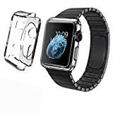 Apple Watch Case, LK [Crystal Transparent] Apple Watch 42mm Clear Case Slim [Perfect Fit] TPU Flexible Soft Rubber Case Full Body Apple Watch Cover for 42mm Apple Watch - Clear