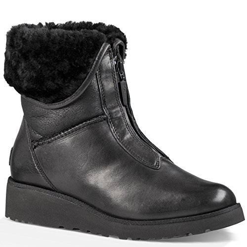 Ugg Australia Women's Caleigh Women's Leather Boots In Chestnut Black