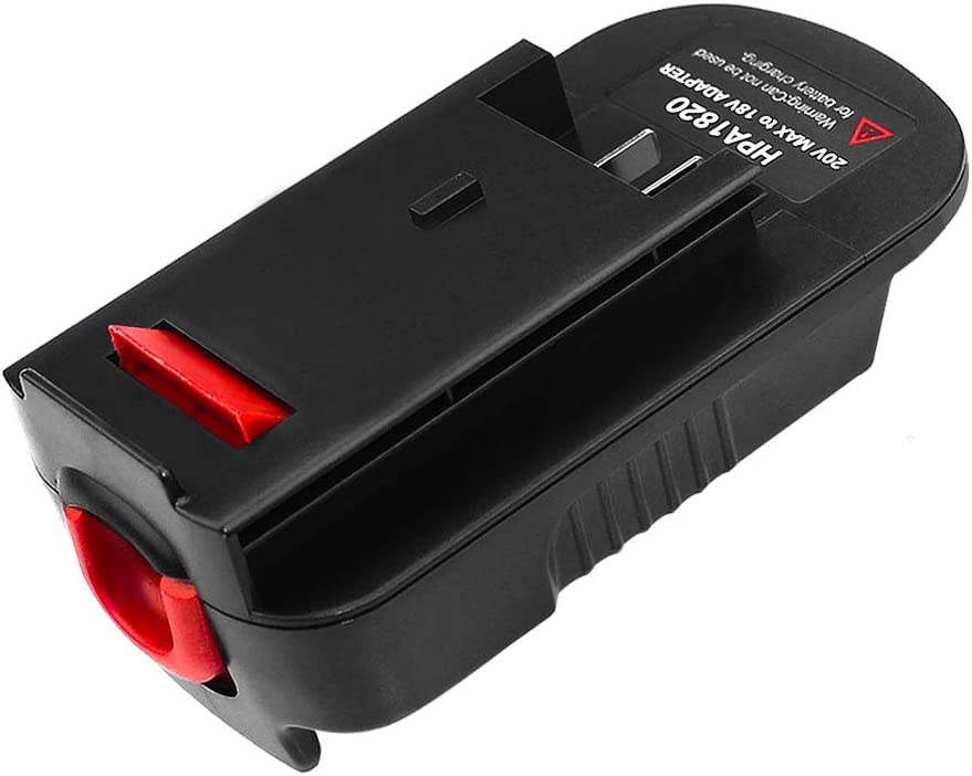 Battery Adapter for Black Decker 18V Tools, Convert Black Decker and Porter Cable 20V Lithium Battery LBXR2020 for Black Decker 18V NiCad NiMh Battery Tools HPB18 HPB18-OPE2