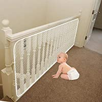 Banister Guard | Baby Safety Stairs Rail Net | Baby Proof Stair Guards Mesh | Indoor 10ft x 2.5ft White