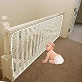Banister Guard | Baby Safety Stairs Rail Net | Child Proofing Balcony Banister Railing Guard | Baby Proof Stair Guards Mesh | Indoor 10ft x 2.5ft White