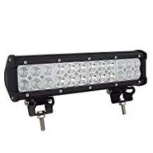 "Willpower 12"" Inch 72W Led Work Light Bar Flood Spot Combo Beam with Mounting Bracket For Off-road SUV Boat 4x4 Jeep Lamp"