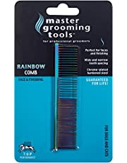 Master Grooming Tools Steel Pet Rainbow Greyhound Comb, Fine and Coarse, 7-1/2-Inch
