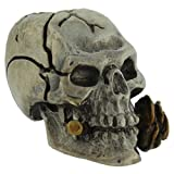 Rose Skull Paracord / Lanyard Bead in .925 Sterling Silver & Bronze by GD Skulls