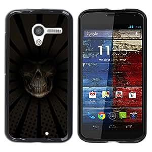 LECELL -- Funda protectora / Cubierta / Piel For Motorola Moto X 1 1st GEN I XT1058 XT1053 XT1052 XT1056 XT1060 XT1055 -- Grim Reaper Death Close Up --