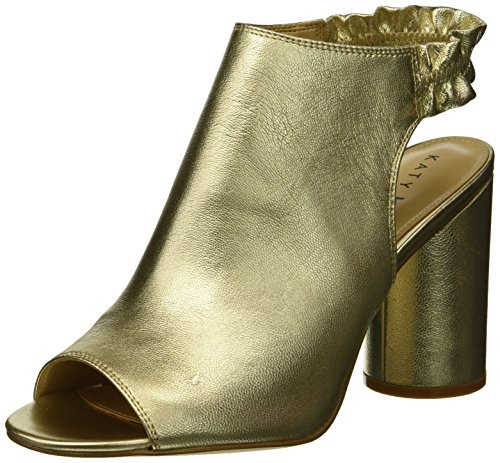 he Jocelyn-Tumbled Metallic Heeled Sandal, Champagne, 9 M Medium US ()
