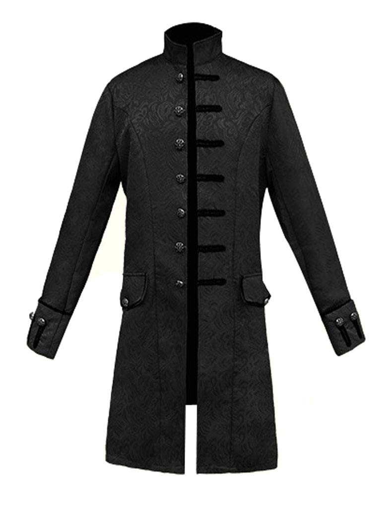 MasaRave Mens Victorian Frock Coat Steampunk Jacket 3