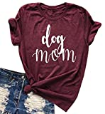 Best Mom  Gifts - Womens Dog Mom Neck Neck T-Shirt Funny Moms Review