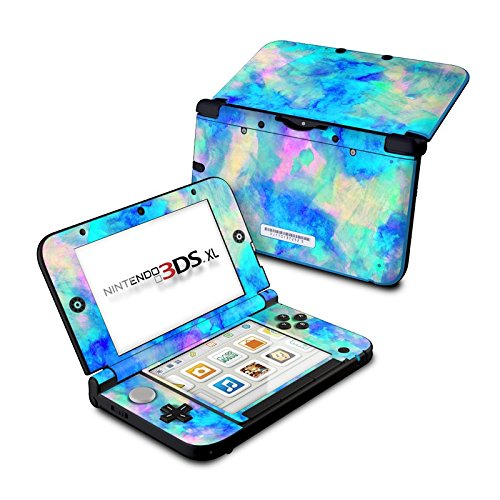 Electrify Ice Blue Design Protective Decal Skin Sticker for Nintendo 3DS XL (2014)(Matte Satin)