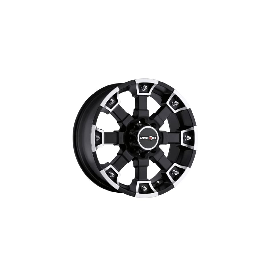 20 inch 20x9 Visino Off Road Brutal Matte Black Machined Face wheel rim; 5x5.5 5x139.7 bolt pattern with a +18 offset. Part Number 392 2985MB18