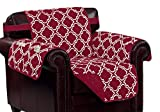 Kashi Home Burgundy/Beige Print w/Strap and 2 Side Pockets-Chair Macy Reversible Furniture Protector,