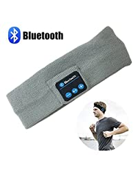 Wireless Bluetooth Music Sport Headhand, Pococina Stereo Sleep Headphones Headset with Built in Bluetooth for Running, Yoga, Hiking, and other Inside Outside Sports