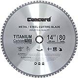 Concord Blades MCB1400T080HP 14-Inch 80 Teeth TCT Ferrous Metal Cutting Blade