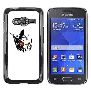TopCaseStore / la caja del caucho duro de la cubierta de protección de la piel - Robot White Black Iron - Samsung Galaxy Ace 4 G313 SM-G313F