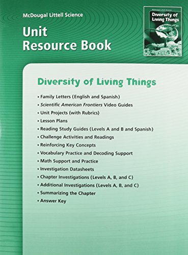 McDougal Littell Science: Diversity of Living Things: Unit Resource Book