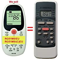 Replacement for Klimaire KSIN Series Air Conditioner Remote Control Model Number: RG51M5/(C)EU RG51M5/EU