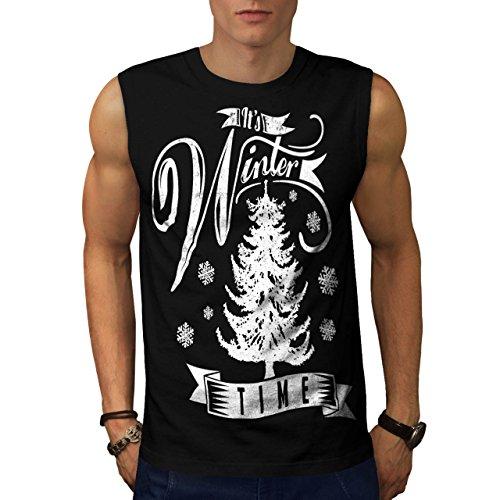 [Winter Time Xmas Snow Frozen Men NEW S Sleeveless T-shirt | Wellcoda] (A Christmas Carol Costume Design)