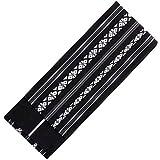 KYOETSU Men's Japanese Kaku Obi Kimono belt Cotton (Black)