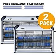 #LightningDeal LiBa Bug Zapper Electric Indoor Insect Killer Mosquito, Bug, Fly Killer Powerful 2800V Grid (2-Pack)