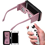 Combiné Omiky® réalité virtuelle Google en carton et Gamepad RC, 14cm Plastique VR Boîte 3d Google GLASSE et blanc ABS télécommande pour iPhone 6S Plus