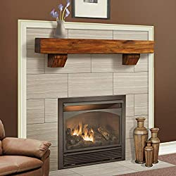 Duluth Forge 60-Inch Shelf Corbels-Brown Finish Fireplace Mantel Large from Factory Buys Direct