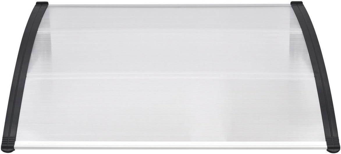 Outdoor Polycarbonate Front Door Window Awning 59 x 39