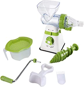 Manual Hand Crank Juicer, Plastic Juice Extractor, comfortable Multi-function eco-friendly Manual Juicer, Kitchen for Home travel