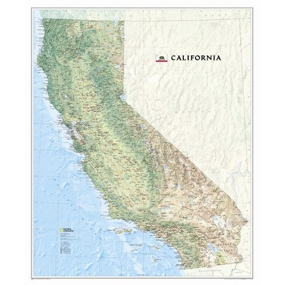 California State Wall Map Material: Paper