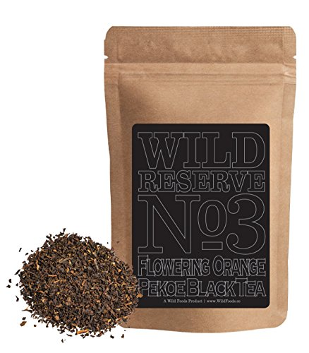 Flowering Loose Black Tea (Wild Black Tea #3, Reserve Flowering Orange Pekoe Nilgiri Black Tea, Single-Estate Organically grown on one of the Highest Tea Estates in the World, Wild Reserve by Wild Foods Co (4 ounce))