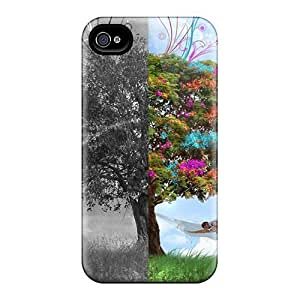 Mialisabblake Scratch-free Phone Case for iphone 4/4s- Retail Packaging - War Versus Peace