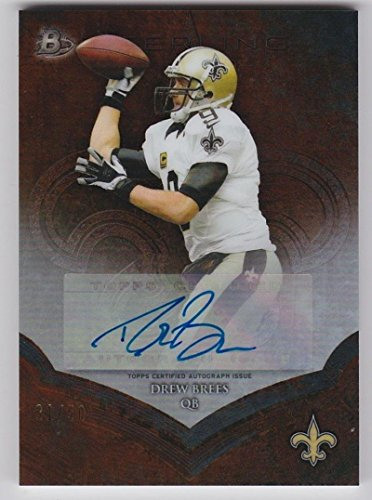 Football NFL 2014 Sterling Veteran Autograph Short Prints Black Refractor #BSA-DB Drew Brees Auto 21/50 Saints by