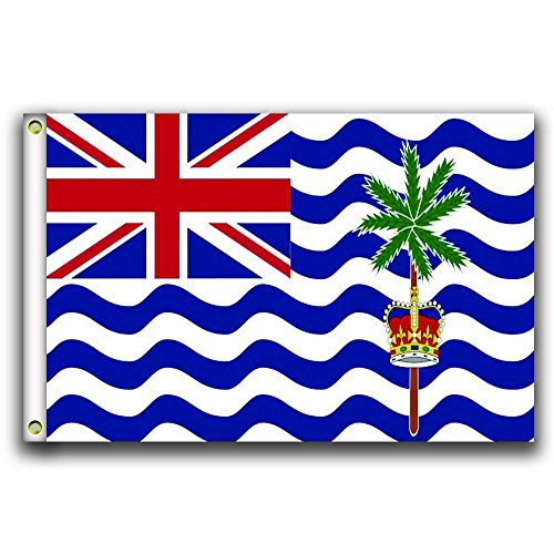 MCCOCO The British Indian Ocean Territory Flags Banner 3X5FT-90X150CM 100% Polyester,Canvas Head with Metal Grommet,Used both Indoors and Outdoors