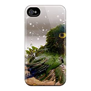 Cute Tpu FBurgess Naughty Parrot Case Cover For Iphone 4/4s