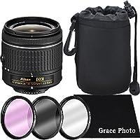 Nikon AF-P DX NIKKOR 18-55mm f/3.5-5.6G Lens Bundle for Nikon DSLR Cameras (White Box)