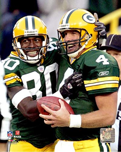 Brett Favre & Donald Driver Green Bay Packers Action Photo (Size: 8