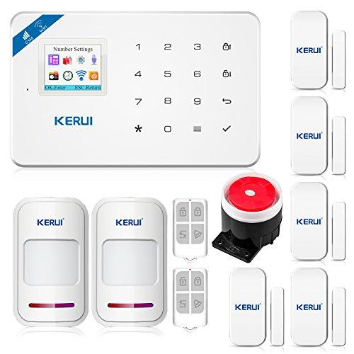 KERUI W18 Wireless 2.4G WIFI+GSM Burglar Home Security Alarm System DIY Kit...