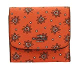 COACH Small Trifold Wallet Leaf Dot Print Coated Canvas, F87223