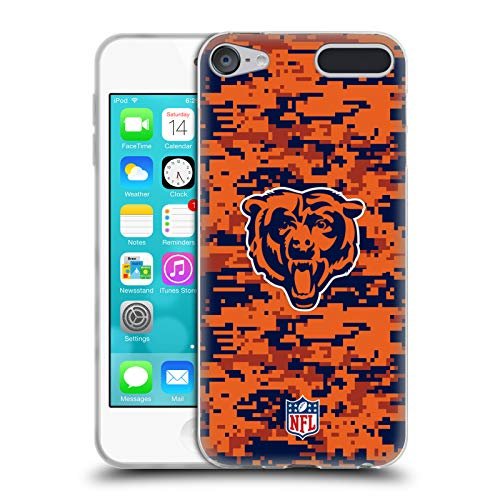 Official NFL Digital Camouflage 2018/19 Chicago Bears Soft Gel Case for Apple iPod Touch 6G 6th Gen
