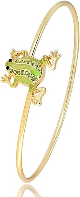 RUXIANG Crystal Owl Bird Animal Hook Opening Bracelet Jewelry