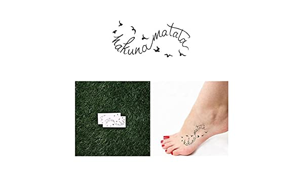 Tatuaje Temporal Tattify - Hakuna Matata - Vuelo (juego de 2 ...