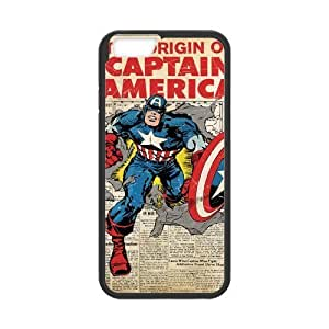 LeonardCustom- Captain America Protective Hard Rubber Coated Cover Case for iPhone 6 4.7